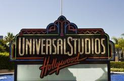 Hollywood för universella studior tecken arkivbild