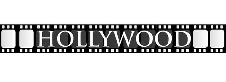 Hollywood Filmstrip. A filmstrip with the word Hollywood Royalty Free Stock Images