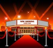 Hollywood filmu czerwonego chodnika kino ilustracji
