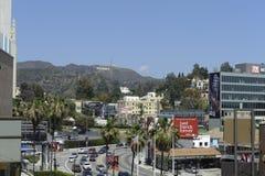 Hollywood firma adentro el califorinia de Los Ángeles Foto de archivo libre de regalías