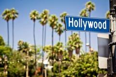 Hollywood firma adentro el LA Foto de archivo