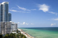 Hollywood Florida. The beautiful beach in Hollywood Florida Stock Images