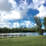 Hollywood Florida. Beautiful canal view with Stock Image