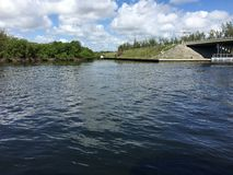 Hollywood Florida. View to the intercostal waterway Royalty Free Stock Photo