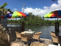 Hollywood Florida. View to the intercostal waterway Royalty Free Stock Photos