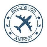 Hollywood flygplatslogo vektor illustrationer