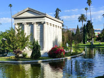 Hollywood Forever Cemetery - Garden of Legends. Hollywood Forever Cemetery is a public resting place for many of Hollywood's greatest artists and Los Angeles Royalty Free Stock Photos