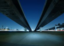 Hollywood Freeway Bridges. Towering freeway bridges near Hollywood California Stock Photos