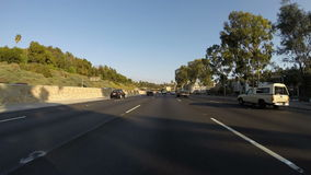 Hollywood Freeway Day Driving Time Lapse. Hollywood 101 freeway day driving time lapse stock video footage