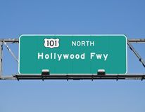 Hollywood Freeway Sign Stock Photo