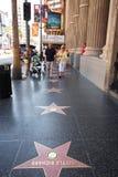 Hollywood går av berömmelse royaltyfria foton