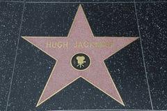 Hollywood går av berömmelse - Hugh Jackman arkivbilder