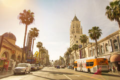 Hollywood går av berömmelse - Los Angeles Kalifornien arkivfoto