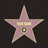 Hollywood går av berömmelsedesign royaltyfri illustrationer