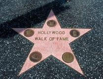 Hollywood går av berömmelsestjärnan royaltyfri fotografi