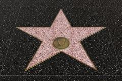 Hollywood går av berömmelsestjärnan med tomt utrymme för namn royaltyfria foton