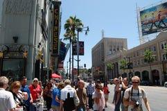 Hollywood går av berömmelse Arkivfoto