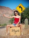 Hollywood-Grenze lizenzfreie stockbilder
