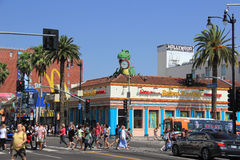 Hollywood and Highland Intersection Stock Image