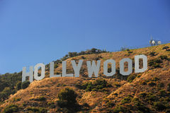 Hollywood on hill Royalty Free Stock Photo