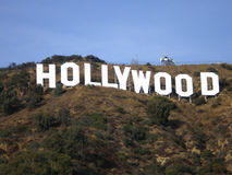 Hollywood Hill Sign. The famous Hollywood Hill Sign Stock Photo