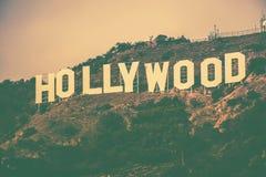 Hollywood Hills célèbre photographie stock