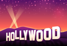 Hollywood Hills. Iconic hollywood movie sign at sunset Royalty Free Stock Images