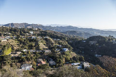 Hollywood Hills in Los Angeles Stock Photo