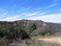Hollywood Hills Panorama. View of the Hollywood Hills from Griffith Park in L.A Royalty Free Stock Image