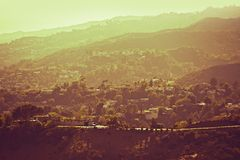 Hollywood Hills Panorama Stock Image