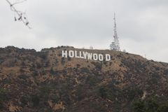 Hollywood hills royalty free stock image