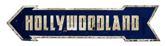 Hollywood Hollywoodland tecken arkivfoton