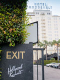 Hollywood hotel Roosevelt Zdjęcia Stock
