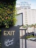 Hollywood Hotel Roosevelt Stock Photos