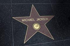hollywood jackson michael stjärna Royaltyfri Fotografi