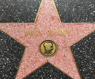 Bugs Bunny's star on Hollywood Walk of Fame Stock Photo