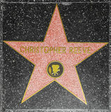 Actor Christopher Reeve's star on Hollywood Walk of Fame Royalty Free Stock Photography