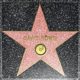 Musician David Bowie star on Hollywood Walk of Fame Stock Photos