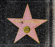 Illusionist David Copperfield's star on Hollywood Walk of Fame royalty free stock images