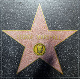 Actor George Marshalls star on Hollywood Walk of Fame Stock Photos