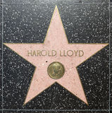 Harold lloyds star on Hollywood Walk of Fame Royalty Free Stock Image