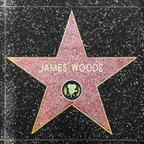 Actor James Woods' star on Hollywood Walk of Fame Royalty Free Stock Photo