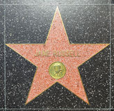 Jane Russells star on Hollywood Walk of Fame Royalty Free Stock Photography