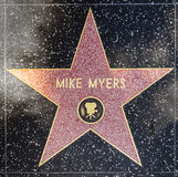Actor Mike Myers star on Hollywood Walk of Fame Royalty Free Stock Image