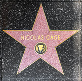 Actor Nicolas Cage's star on Hollywood Walk of Fame Royalty Free Stock Images