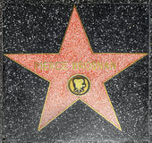 Actor Pierce Brosnans star on Hollywood Walk of Fame Royalty Free Stock Photos
