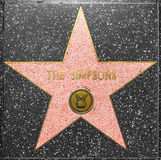 The Simpsons star on Hollywood Walk of Fame Stock Images