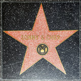 Sonny & Chers star on Hollywood. HOLLYWOOD - JUNE 26: Sonny & Chers star on Hollywood Walk of Fame on June 26, 2012 in Hollywood, California. This star is Stock Photography