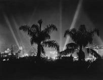 Hollywood Kalifornien, circa sen 30-tal (alla visade personer inte är längre uppehälle, och inget gods finns Leverantörgarantitha Fotografering för Bildbyråer