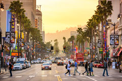 Hollywood Kalifornien gator arkivbilder